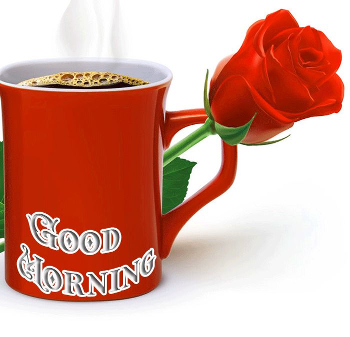 good morning images with coffee cup