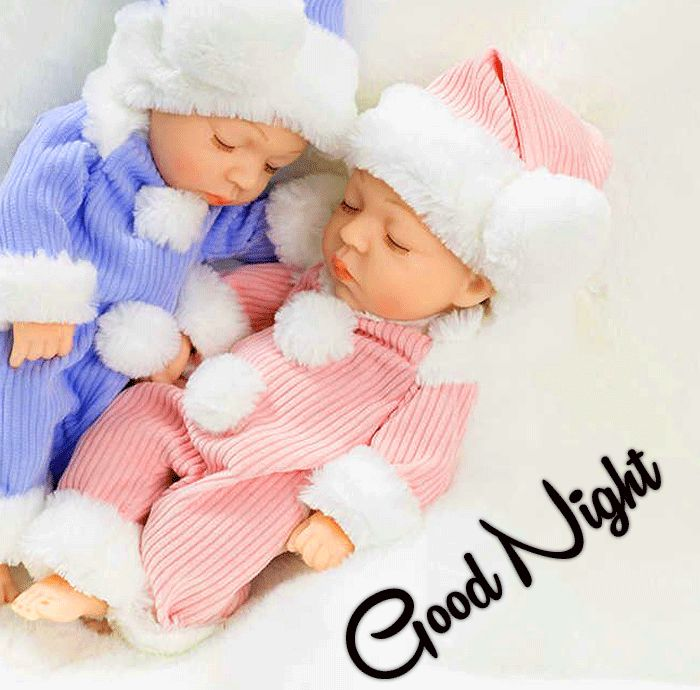 Cute Baby Good Night pics with two hd download