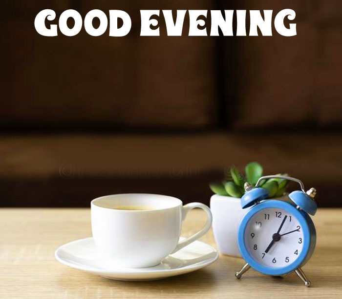 Good Evening coffee cup flower images