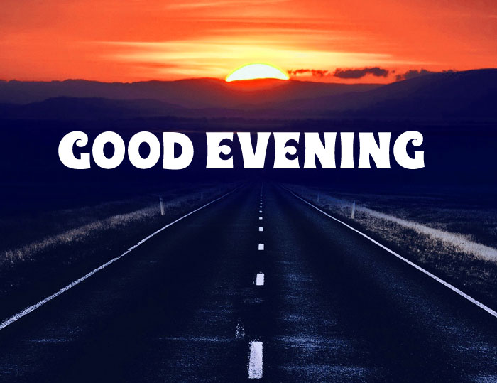 Good Evening long alone dark road sunset images hd