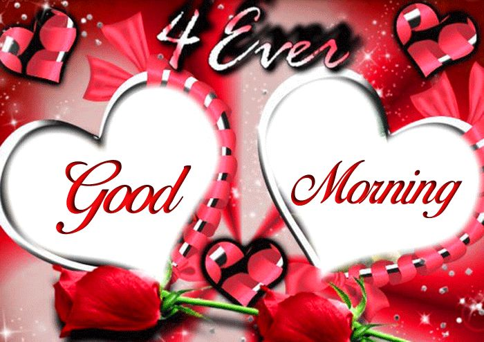 Good Morning wallpaper with two love and red rose flower hd download