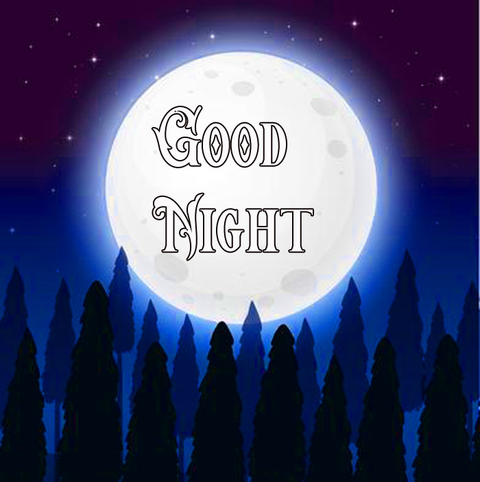 Good Night forest moon images hd download