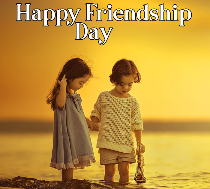 Happy Friendship Day picture with cute baby hd download