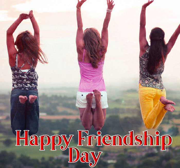 Happy Friendship Day picture with girl hd download