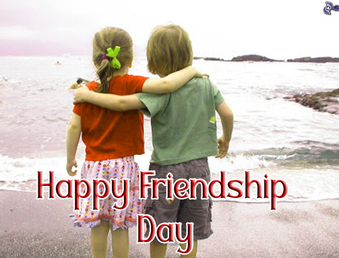 Happy Friendship Day wallpaper with cute baby hd