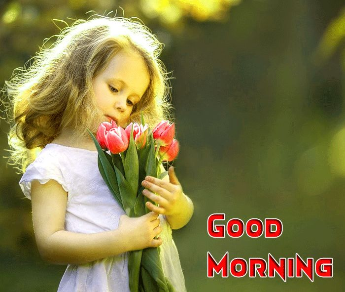 baby photo with good morning