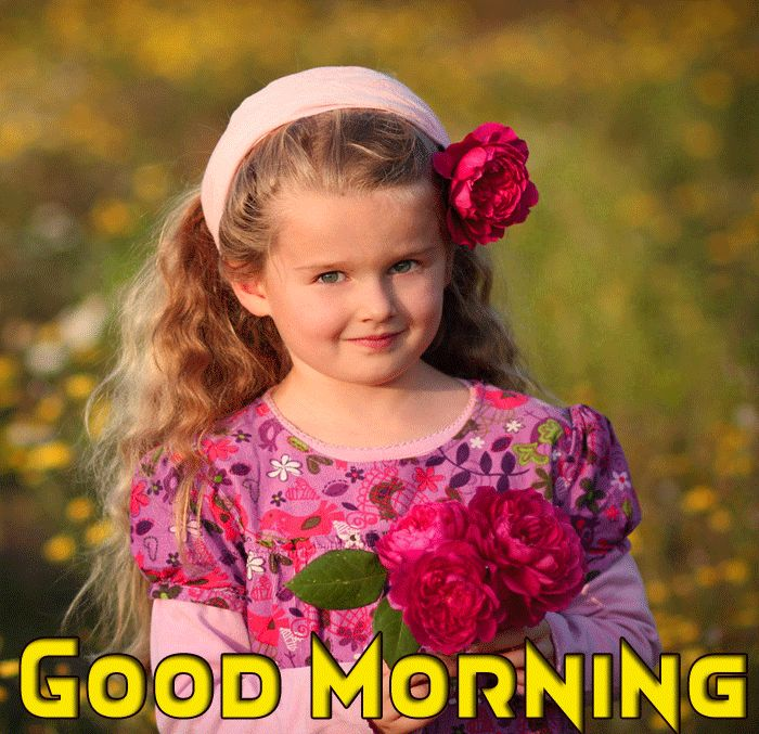 cute baby girl good morning images