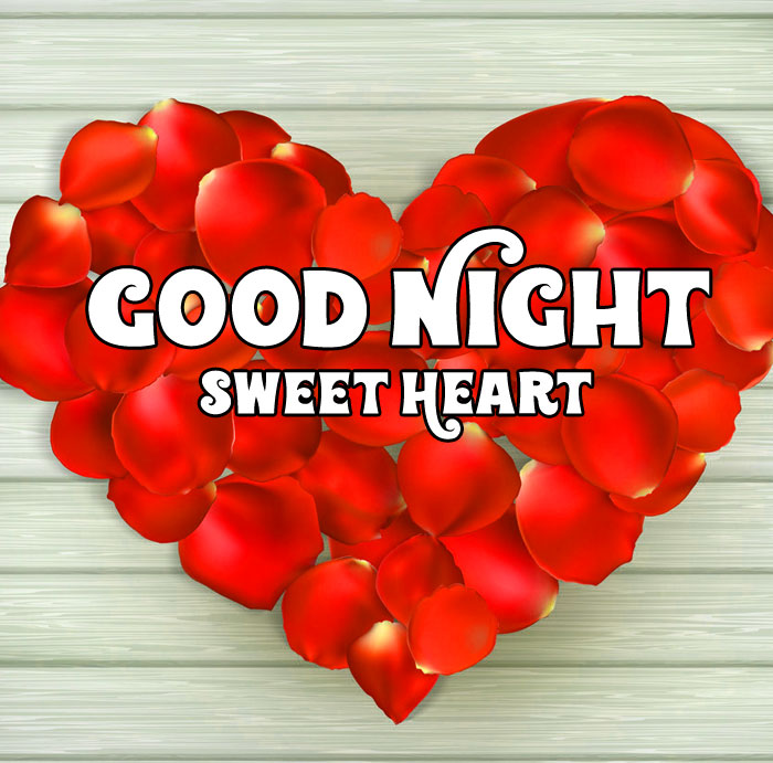 red flower Good Night Sweet Heart images hd