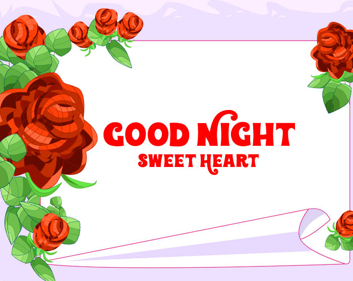 red graphic Good Night Sweet Heart images hd