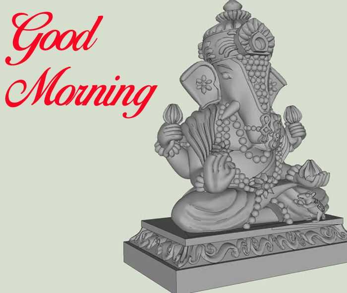 Good Morning Ganesha wallpaper with white hd download