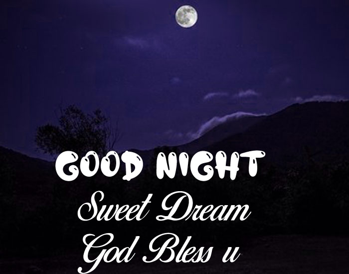 Good Nihgt Sweet Dream God Bless You small moon hd picture