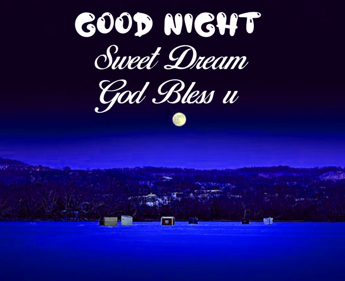 blue small moon Good Nihgt Sweet Dream God Bless You images
