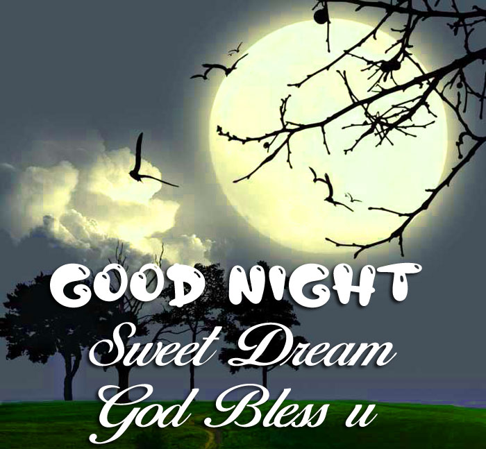full moon Good Nihgt Sweet Dream God Bless You images