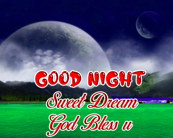green Good Nihgt Sweet Dream God Bless You moon images