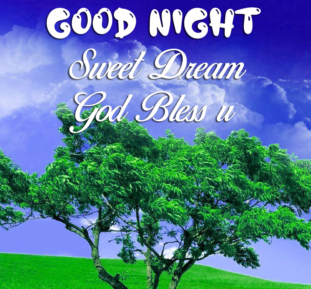 green tree Good Nihgt Sweet Dream God Bless You blue sky images