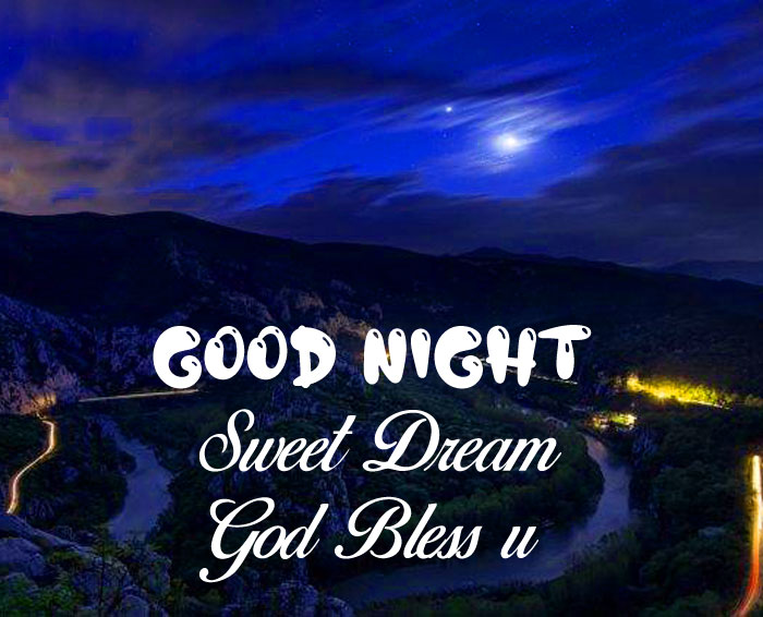 latest Good Nihgt Sweet Dream God Bless You cute moon images