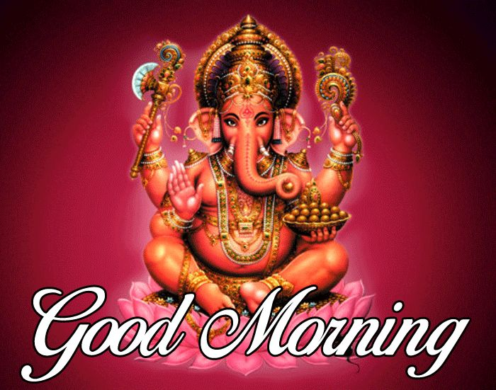 latest lord Ganesha Good Morning pics with colorfull hd download
