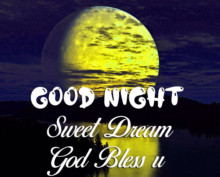 latest yellow Good Nihgt Sweet Dream God Bless You moon images