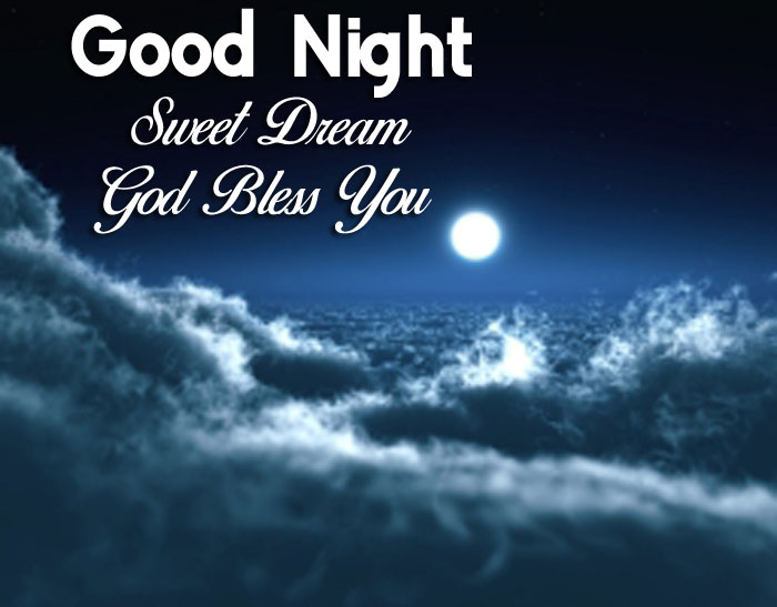 moon over clouds Good Nihgt Sweet Dream God Bless You pics hd