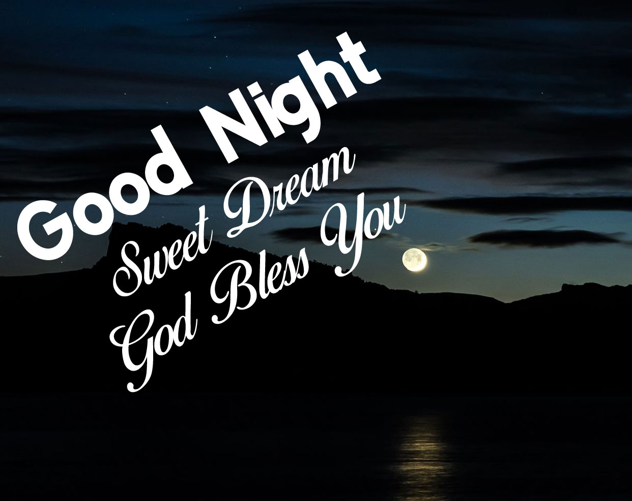 moon sky Good Nihgt Sweet Dream God Bless You images hd