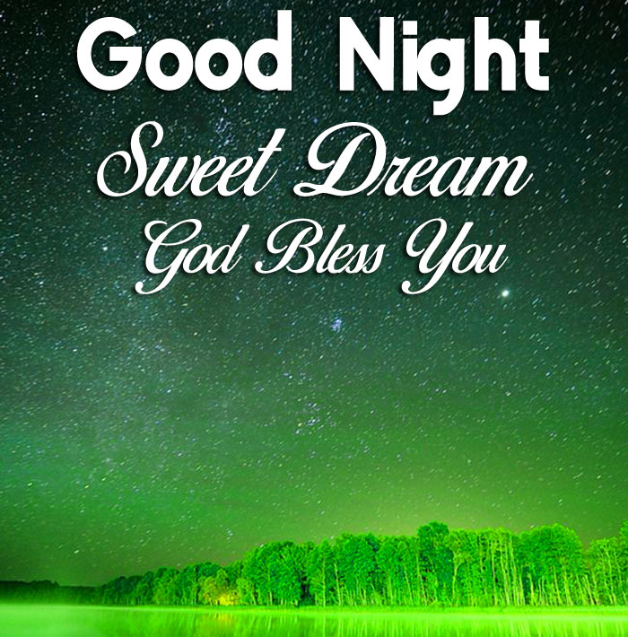 stars green moon Good Nihgt Sweet Dream God Bless You images