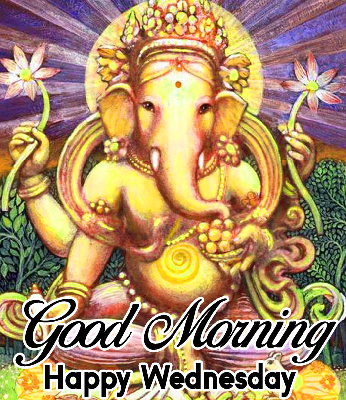 lord Ganesha Good Morning Happy Wednesday images hd