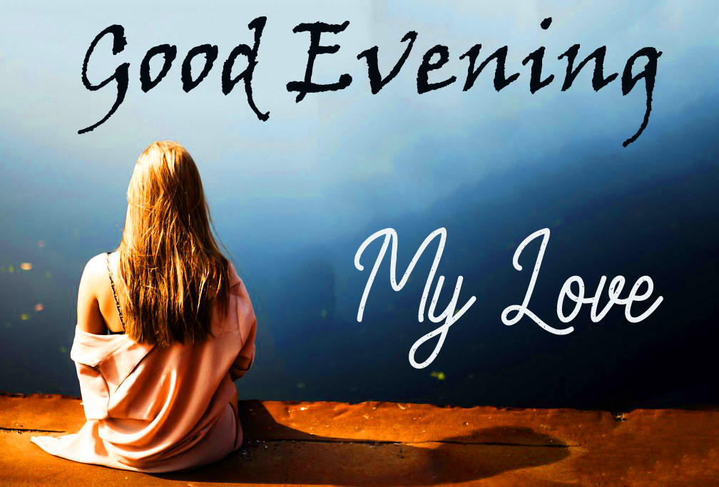 Alone Girl with Good Evening Love Wish