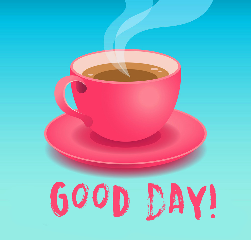 Animated Coffee Cup Good Day Image