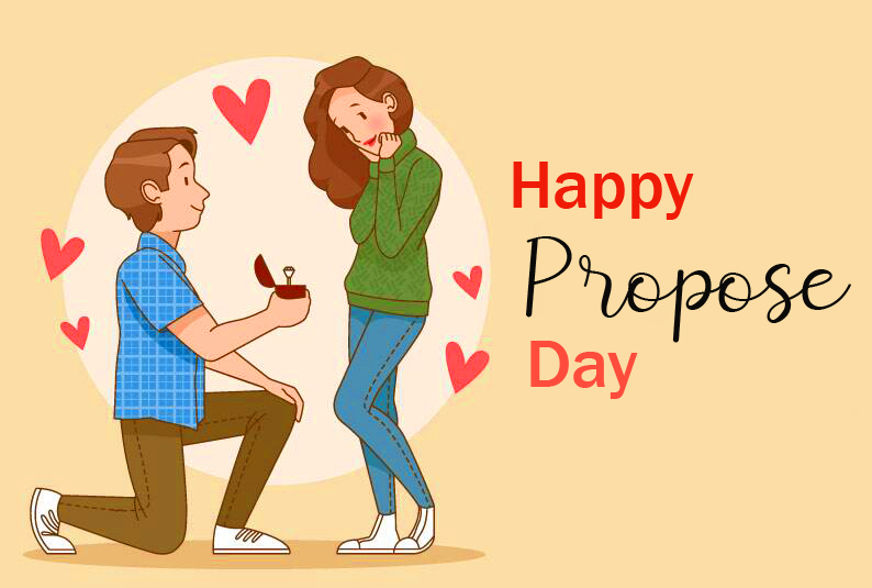 Animated Couple Happy Propose Day Pic
