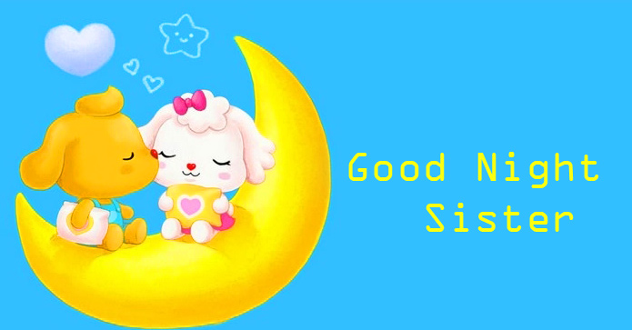Beautiful Animated Good Night Sister Picture