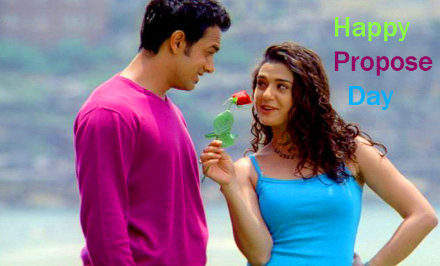Beautiful Couple with Happy Propose Day Wish
