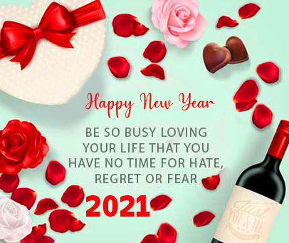 Beautiful Happy New Year Message Image