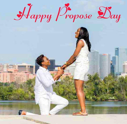 Best Couple HD Happy Propose Day Wish Pic