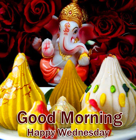 Best Lord Ganesha Good Morning Happy Wednesday Pic