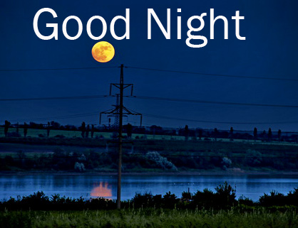 Best Moon and River Good Night Image
