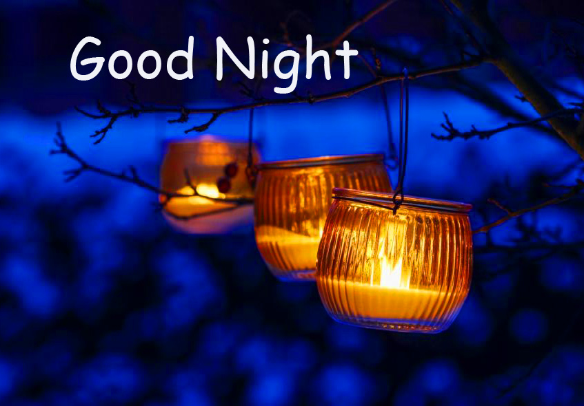 Candles in Night with Good Night Wish