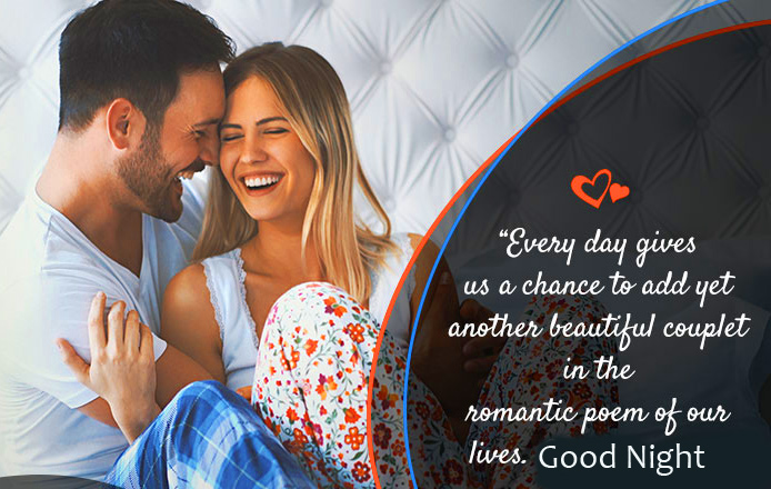 Couple Good Night Quotes Wallpaper