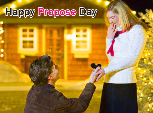Couple Happy Propose Day Wish Picture