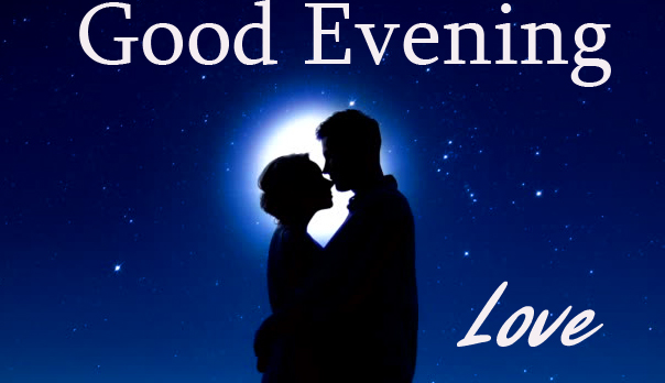 Couple in Night Scenery Good Evening Love Image