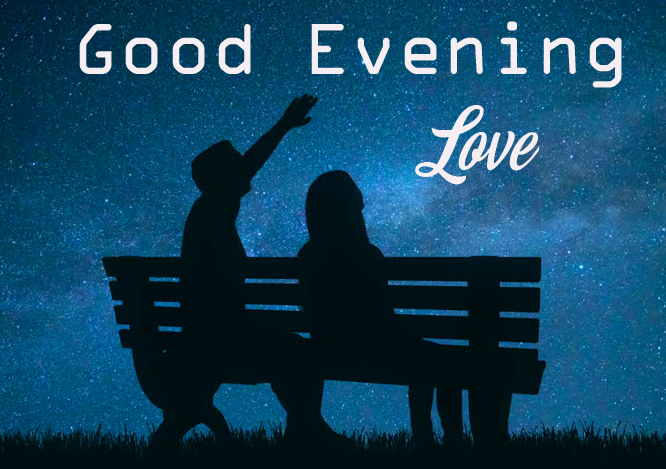 Couple with Good Evening Love Wish