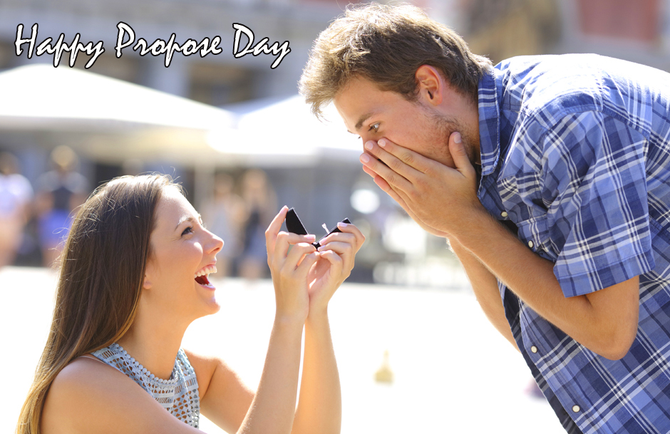 Couple with Happy Propose Day Wish