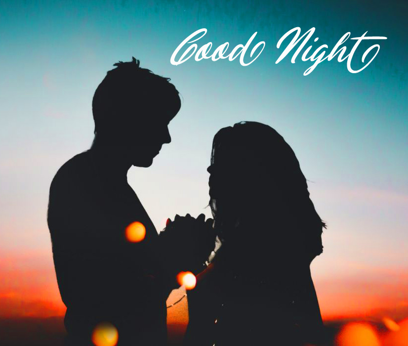 Couple with Sweet Good Night Message
