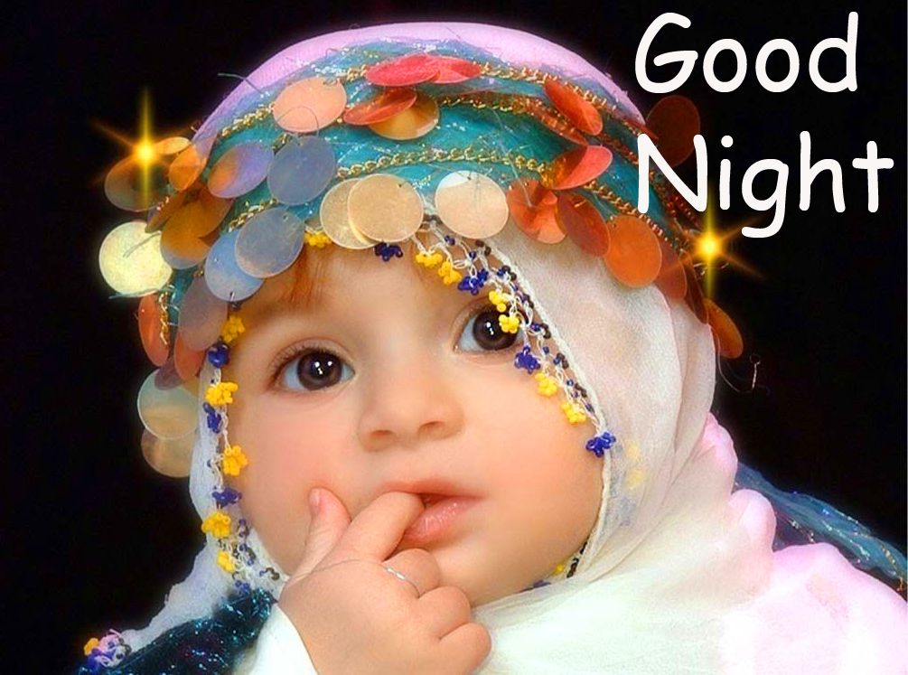 Cute Baby Good Night Picture