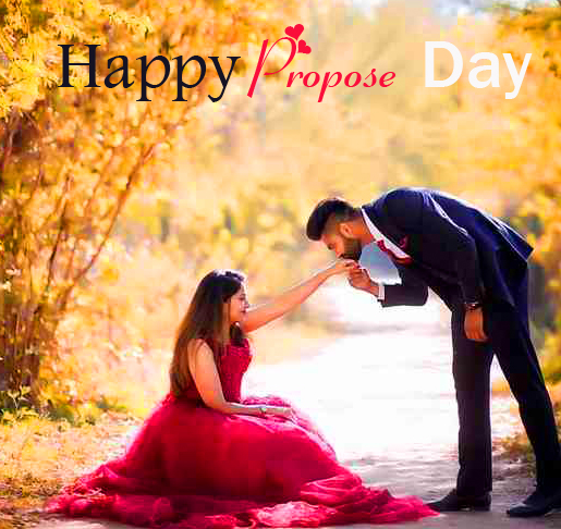 Cute Couple HD Happy Propose Day Wish Image