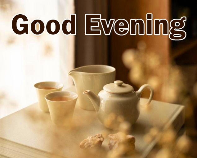 Cute and Royal Tea Cup Good Evening Wish Pic