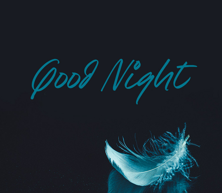 Feather with Good Night Wish