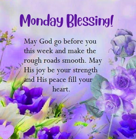 Floral Monday Blessing Image