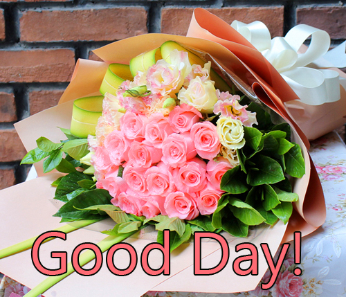 Flowers Bouquet Good Day Image