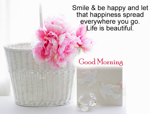 Flowers Good Morning Quotes Picture
