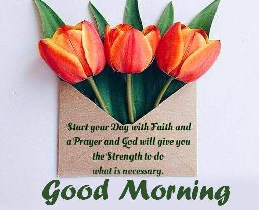 Flowers with Thought and Good Morning Wish